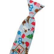 Chlapecká kravata modrá se zimním motivem 31 cm Avantgard 558-5041