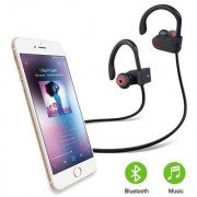 Deals e Unique Sports Bluetooth Headphone Supper Bass Neckband DJ Wireless Headphones with Mic(Multi-Color)