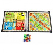 Ludo with Stylish Snakes Board Game(Wooden Board)