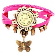 New Pink Casual Analog Watch For Girl - Watches By mr fashion
