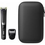 Aparat hibrid de barbierit si tuns barba Philips OneBlade Pro QP651064 Umed si Uscat + Trusa Bonus Rucsac OneBlade Verde + Balsam NIVEA Sensitive MEN
