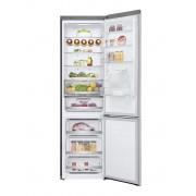 Combina frigorifica LG GBF72NSDZN, Total No Frost, 380 L, Display LED, Dozator de apă, Wi-Fi, Suport sticle, Clasa A++, H 203 cm, Noble Steel