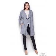 Grey Long Waterfall Cardi Sweater Coat