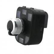 ELECTROPRIME Black Chrome Mirror Adjust Knob Switch for Audi A6 S6 RS6 A4 B6 B7 A2 A3 TT