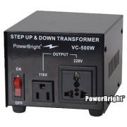 Power Bright VC500W Voltage Transformer 500 Watt Step Up/Down converter 110/120 Volt - 220/240 Volt