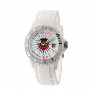 Crayo Shrine Unisex Watch w/ Magnified Date - White CRACR3001
