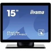Iiyama Dotykový monitor 38.1 cm (15 palec) Iiyama T1521MSC-B1 N/A 4:3 8 ms VGA, USB TN LED