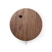 Flyte Horloge Story / Bille en lévitation - Flyte chromé,noyer en bois