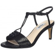 Clarks Women's Amali Ella Black Interest Leather Loafers and Moccasins - 5 UK/India (38 EU)