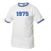 geschenkidee.ch Jahrgangs-Shirt für Erwachsene Weiss/Blau, Grösse L