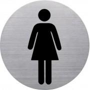 Információs tábla, rozsdamentes acél, HELIT, női mosdó (INH6271000)