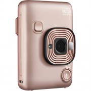 Fujifilm Appareil photo instantané hybride Mini LiPlay Instax - Paquet de 10 papiers photo blush gold avec mini film