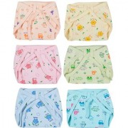 Kotton Labs Newborn Baby Hosiery Cotton Cloth Nappies (pack of 4)