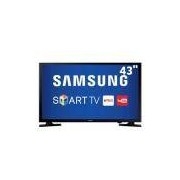 "Smart TV LED 43"" Full HD Samsung 43J5200 com ConnectShare Movie, Screen Mirroring, Wi-Fi, Entrada HDMI e USB"
