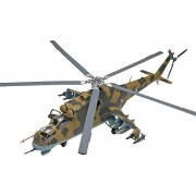 Revell MiL-24 Hind Helicopter 1/48 Plastic Model Kit with Detail Paint Brush Set and Hobby Knife Set