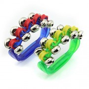 String Bell Handbell Hand bells Row Bell Tambourine Baby Musical Instrument Pack of 2 Color Sent By Randomly