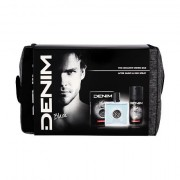Denim Black confezione regalo dopobarba 100 ml + deodorante 150 ml + trousse Uomo