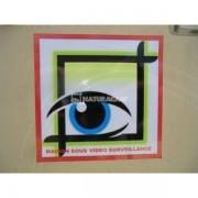 """NATURACAM® Auto-collant """"maison sous vidéo surveillance"""""""