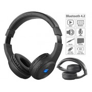 Faltbares Over-Ear-Headset mit Bluetooth, MP3-Player, FM & LCD-Display | Kopfhörer