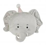 Xenos Kussen olifant - grijs - 42x47 cm