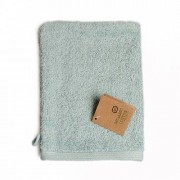 Dille&Kamille Gant de toilette, coton bio, vert céladon, 20 x 15 cm