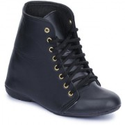 Naisha Women Casual Black Boots