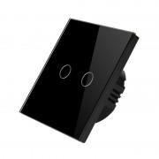 Intrerupator touch dublu dimabil (cu variator), panou tactil din sticla, Smart Home