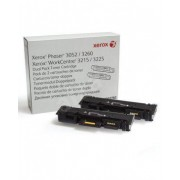 XEROX Cartridge for Phaser 3020, Dual Pack, Black (106R03048)