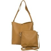 Zureni Ladies Imported High End Pu Leather Handbag Women Tote Shoulder Purse with Additional Sling Bag Girls - Fashionable Messenger Side Bag for Work, Shopping, Office, College and Events - Perfect Gift for Women and Girls Shoulder Bag(Brown, 12 inch)