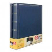 Brepols Lot de 2 albums photo classique bleu simili cuir