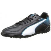 Puma Unisex Esquadra TT Jr Black, White and Scuba Blue Boat Shoes - 11C UK