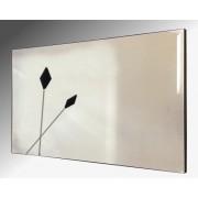 Twin Black Spears Design Bevelled Frameless Mirror 122X61cm