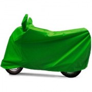 AutoAge Premium FULL GREEN Colour Two-wheeler Cover for UNIVERSAL Bikes AND Scooters