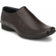 BIG JUNIOR Brown Formal Shoes Slip On For Men(Brown)