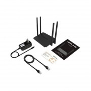 Wavlink 532H2 300Mbps Router Wifi 2.4G 4x5dBi WiFi Inteligente 4 Antenas Repetidoras Negro