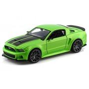 2014 Ford Street Mustang Racer Metallic Light Green 1/24 by Maisto 31506