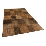 Rozenkelim bruin patchwork vloerkleed 304cm x 202cm