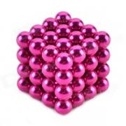 ZQ-64 ZQ-64 Set de juguetes educativos de 5 mm de neodimio de hierro DIY-color rosa oscuro (64 piezas)