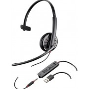Casca Call Center Plantronics BLACKWIRE 315.1-M, USB, 3.5mm Jack, Microsoft Certified, Monoaural (Negru)