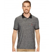 US Polo Assn Classic Fit Solid Short Sleeve Poly Pique Polo Shirt Black
