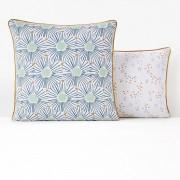 La Redoute Interieurs Fronha de almofada em puro algodão, OJAbranco estampado- 63 x 63 cm