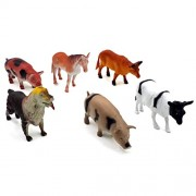 Farm Animals Figures Realistic Animal Toys Animal Learning Resource Party Favors 6pcs
