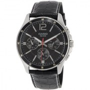 Casio Enticer Chronograph Black Dial Men's Watch - MTP-1374L-1AVDF (A834)