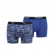 Puma Logo AOP Boxershorts Blue Combo 2-pack
