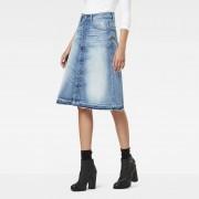 G-Star RAW Arc Button A-Line Midi Skirt