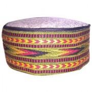 Tahiro Multicolour Printed Cotton Himachali Cap - Pack Of 1