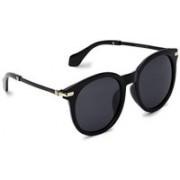 MARC LOUIS Round Sunglasses(Grey)