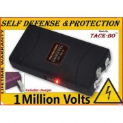 TACK-BO Stun gun 1 Million Watts for Womens Ladies Business Person Self Protection Safety- With Torch Light