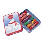 Lip Smacker Un set de balsamuri de buze într - o cutie cu urși (LS Coca-Cola Polar Bear Tin Box) 6 x 4 g