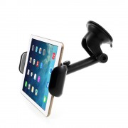 """Universal Rotary Suction Cup Car Windshield Mount Tablet Holder for iPad Air 2 etc. 7-15"""" Tablets - Black"""